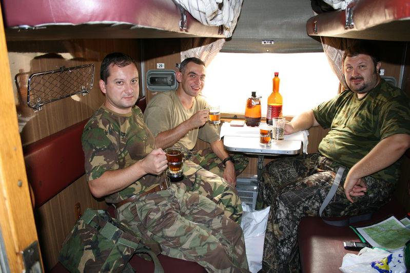 Традиционное чаепитие в поезде